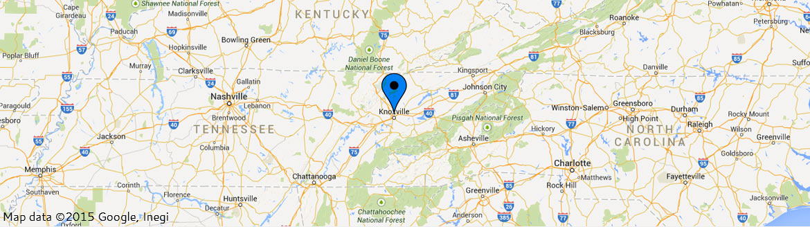 Map - Knoxville location